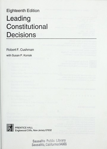 Download Leading constitutional decisions