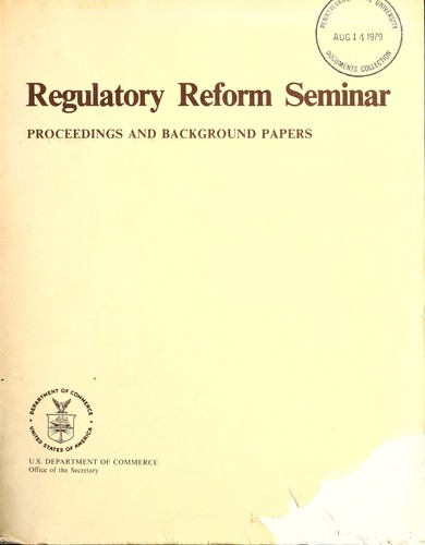 Download Regulatory Reform Seminar