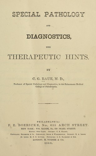 Download Special pathology and diagnostics with therapeutic hints
