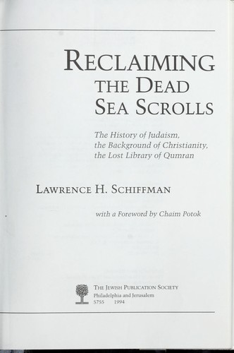 Download Reclaiming the Dead Sea scrolls