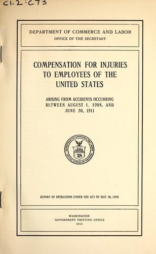 Compensation for injuries to employees of the United States arising from accidents