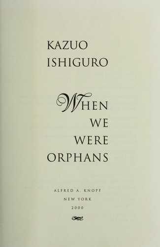 Download When we were orphans