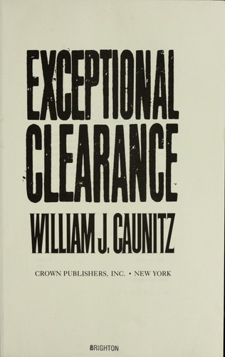 Download Exceptional clearance
