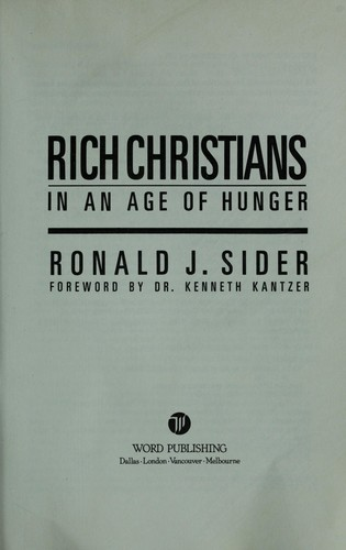 Download Rich Christians in an age of hunger