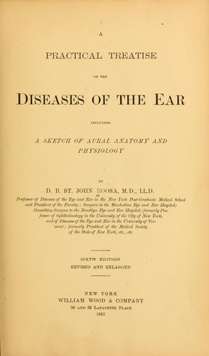 A practical treatise on the diseases of the ear