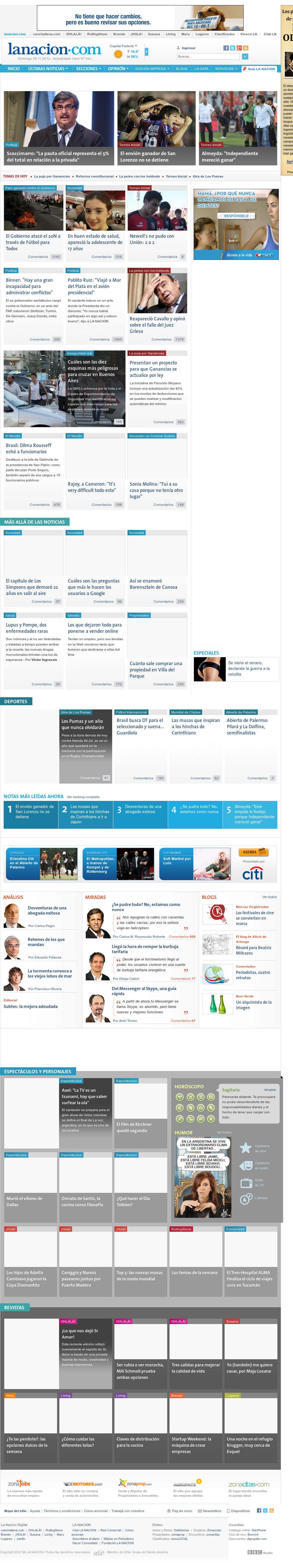 lanacion.com at Sunday Nov. 25, 2012, 7:22 a.m. UTC
