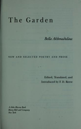 The garden by Bella Akhmadulina