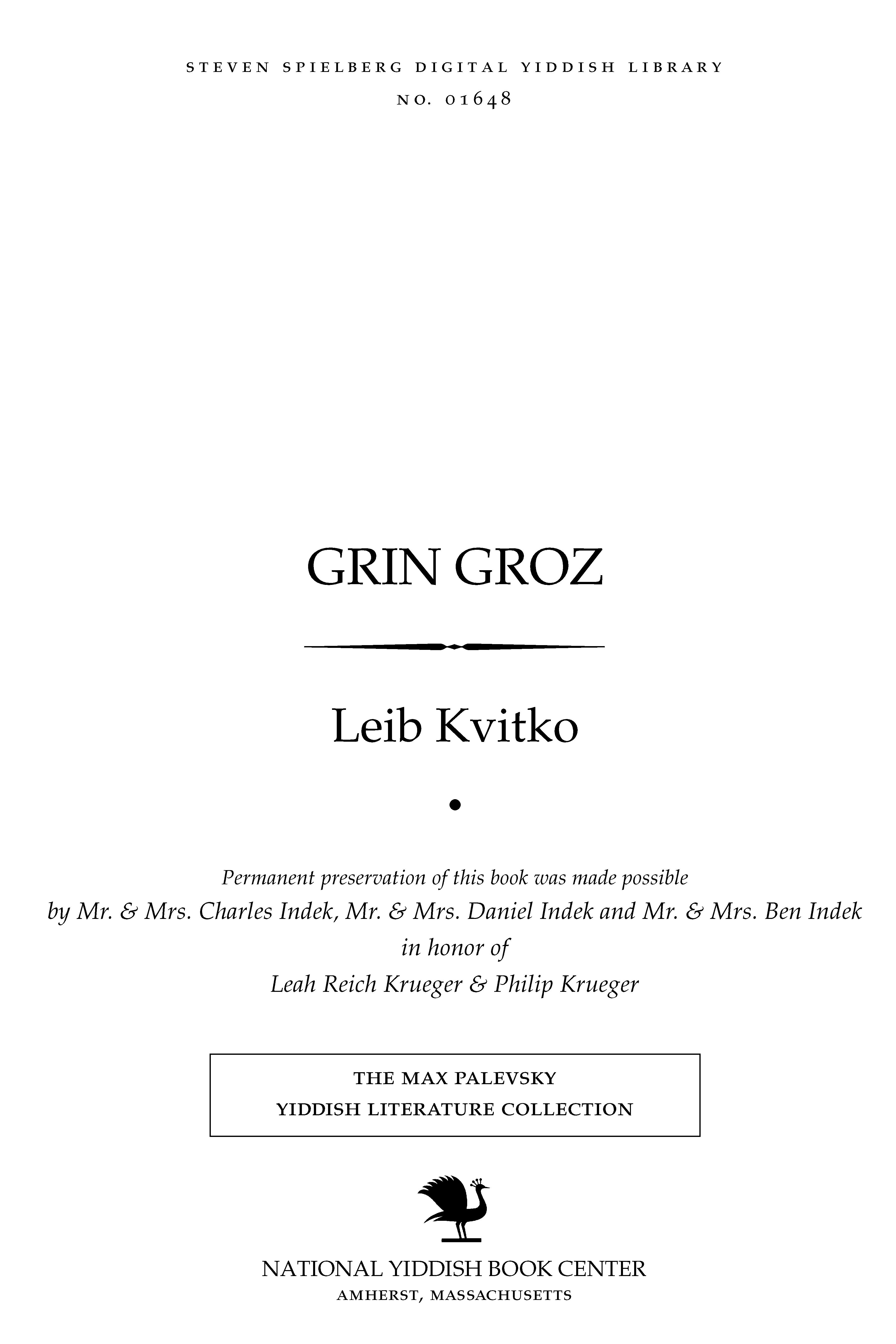 Cover of: Grin groz