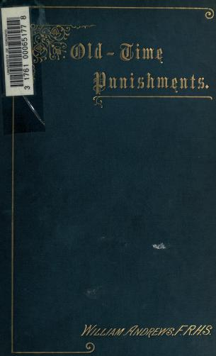 Cover of: Old-time punishments | Andrews, William