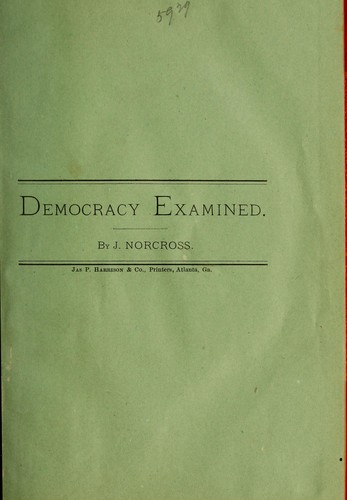 Democracy examined by