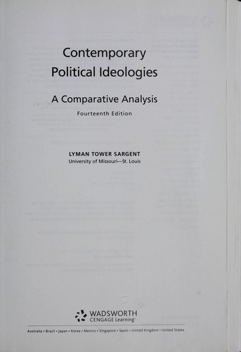 Contemporary political ideologies