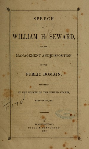 Speech of William H. Seward by William Henry Seward